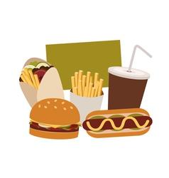 junk food vector image