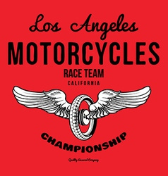 Motorcycle typography t-shirt graphics print vector image vector image