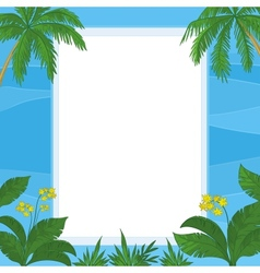 Tropical floral background vector image