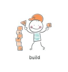 builder vector image vector image