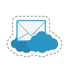 cloud email message envelope cut line vector image vector image