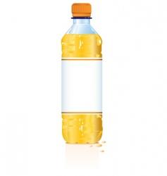 plastic drink bottle vector image vector image