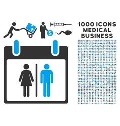 Water Closet Calendar Day Icon With 1000 Medical vector image vector image