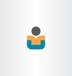 child sitting icon design vector image vector image
