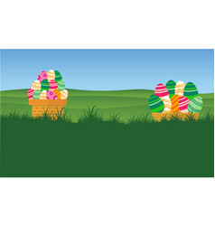 collection stock of easter egg style backgrounds vector image vector image