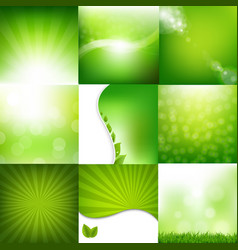 eco nature set banners vector image vector image