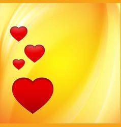 Hearts over orange vector image
