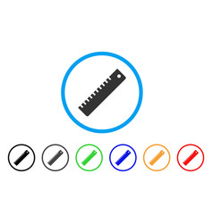ruler rounded icon vector image