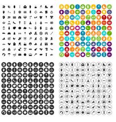 100 joy icons set variant vector