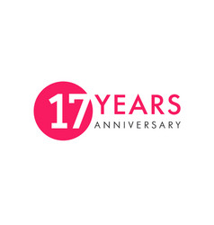 17 years logo vector