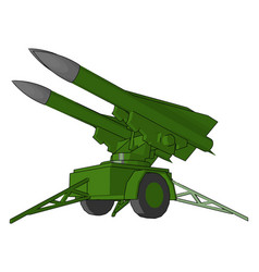 A powerful exploding weapon missile or color vector