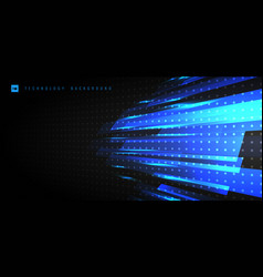 abstract technology futuristic concept blue light vector image