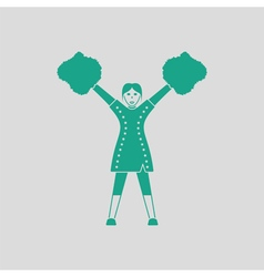 American football cheerleader girl icon vector