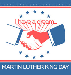 Banner martin luther king day vector