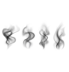 Black smoke transparent smoking clouds hot food vector