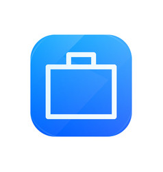briefcase glossy flat icon portfolio symbol vector image