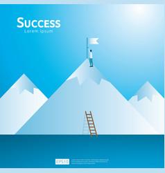 Business concept achievement success vector