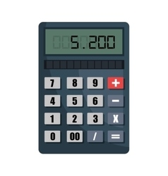 Calculator isolated flat icon vector image