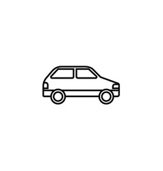 Car line icon navigation and transport sign vector