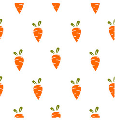 Carrot simple seamless pattern vector