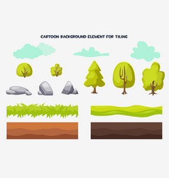 cartoon background element for tiling vector image