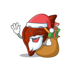 Cartoon design human cirrhosis liver santa vector