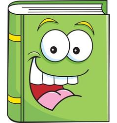 Cartoon smiling book vector