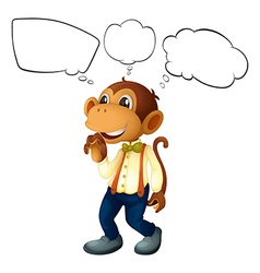 Cartoon Thinking Monkey vector image