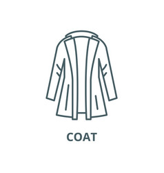 coat line icon coat outline sign concept vector image