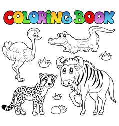coloring book savannah animals 2 vector image