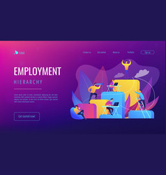 Corporate ladder concept landing page vector