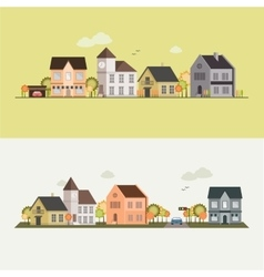 Country side house field vector