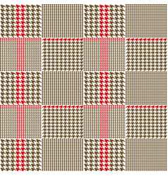 Creative fabric houndstooth vector