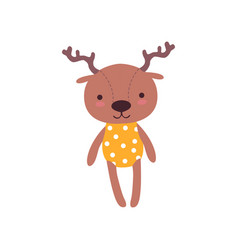 cute soft baby deer plush toy stuffed cartoon vector image