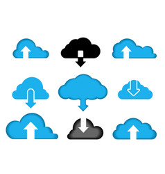 data cloud a set icons computer vector image