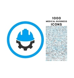 Development Rounded Icon with 1000 Bonus Icons vector