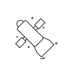 dish satellite icon design vector image