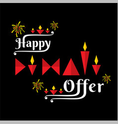 diwali festival offer banner design vector image