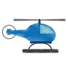 Drawing helicopter transport fly image vector