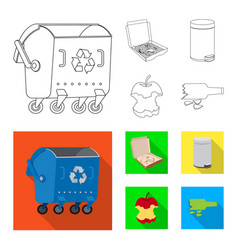 dump and sort icon set of vector image