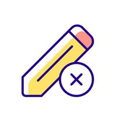 Edit rgb color icon vector