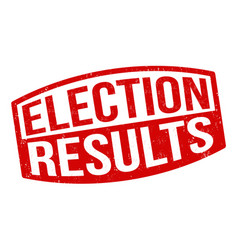 election results sign or stamp vector image