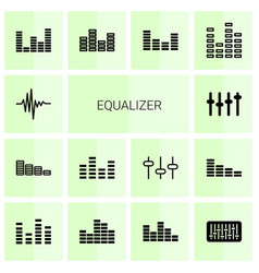 equalizer icons vector image