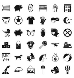 Establishment icons set simple style vector