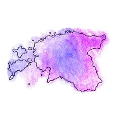 Estonia watercolor map vector image