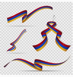 Flag armenia 21st september set vector