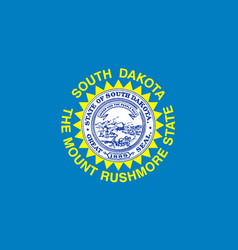 Flag of south dakota vector