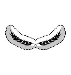 floral wreath decorative icon vector image