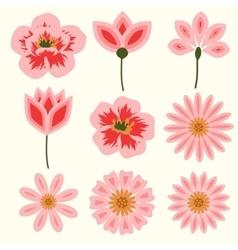 Flowers decorative set vector image