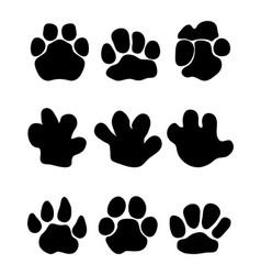 Footprints hippopotamus vector